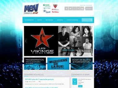 Wordpress Website for Music Festival