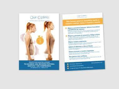 Desarrollo de flyers para Quiróptimo