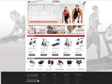 Magento Web site for a Fitness Equipment company
