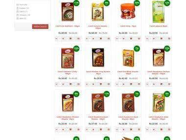 Custom Opencart E-commerce Project - Responisve Design