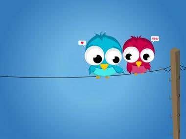 Tweety Birds Illustration