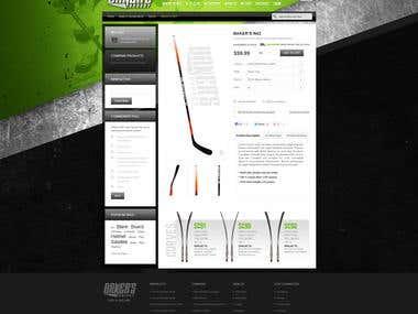 Magento Hockey Sticks web site