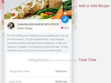 Recipe Locker - Android material design