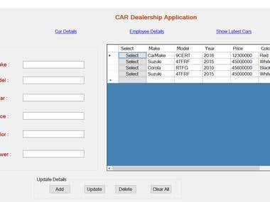 Car Dealership Application