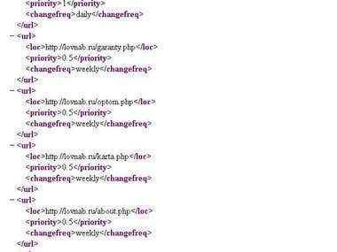 Автоматическая Карта сайта для поисковиков Sitemap.XML