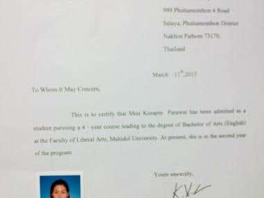 Mahidol University Certificate