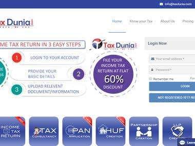Project of TaxDunia