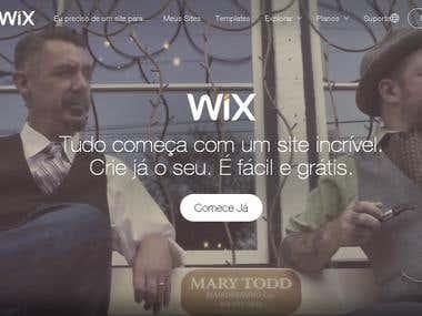 Criação de Sites com WIX
