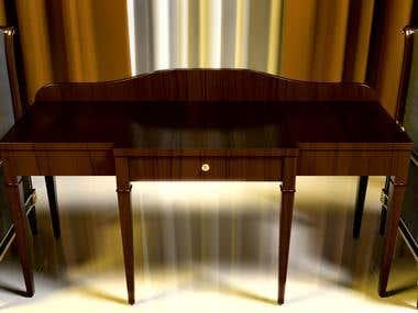 hellen series single sofa and writing desk