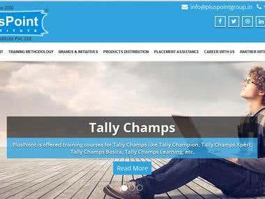 website design using CORE PHP