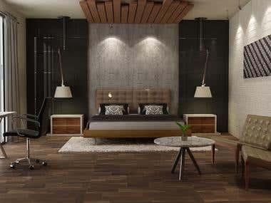 3D Rendering - Interior Concept - Bedroom