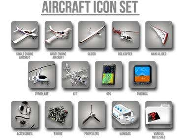 Icons Design (Aicrafts and related)