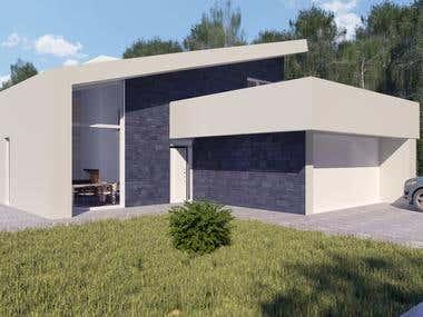 Interior & exterior renderings