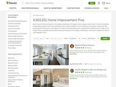 Web Scraping Houzz.com