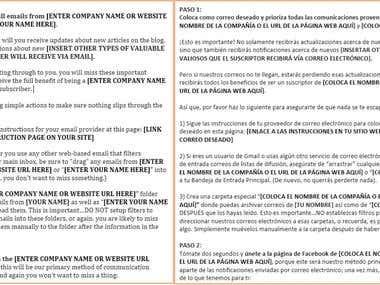 Mail Marketing   ENG to SPA translation