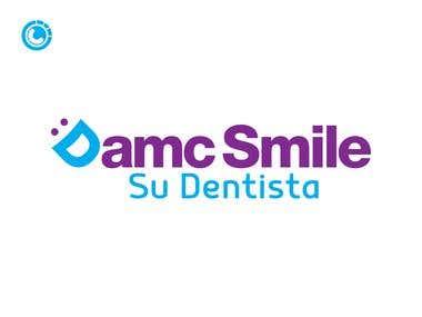 Logo design for D.A.M.C. Smile (dental office)