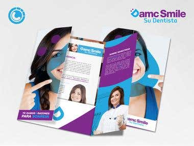 Logo design for D.A.M.C. Smile (dental office)