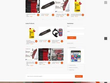 modern and simple autoparts eCommerce