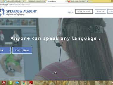 Language E learning Portal