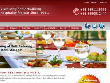 Hospitality Consultant Website