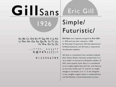 Gill Sans Poster
