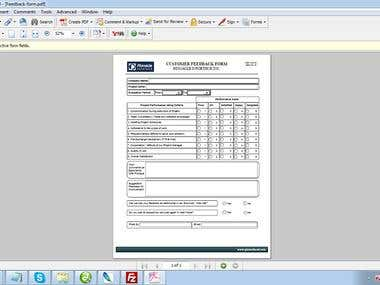 PDF Form Creation | Request for Proposal PDF Form