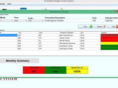 Budget Control System
