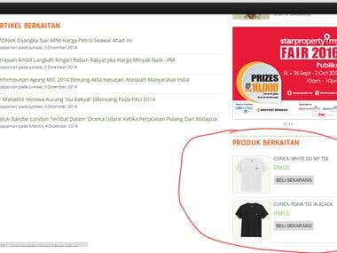Basic retargeting contextual ads on mstar web