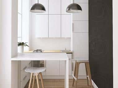 Minimal Kitchen Rendering