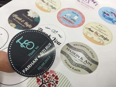 "Sticker label ""wedding"""