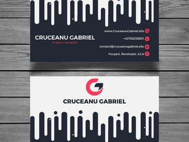 Business card modern style