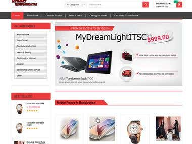 E-commerce Web DesignDevelopment (www.mysmartshoppingbd.com)
