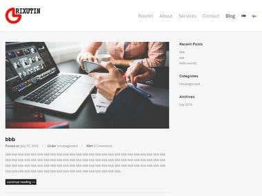 Rixutin - a simple multilingual site