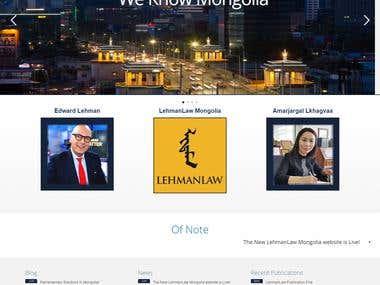LehmanLaw Mongolia Website