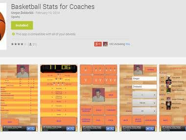 Android Basketball application