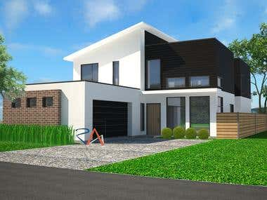 Two Storied Residence design