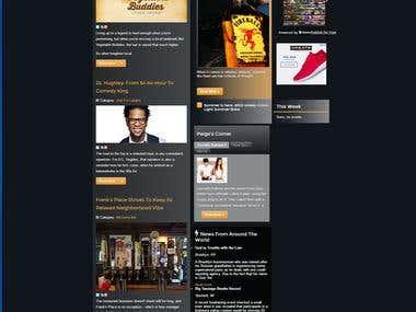 Magazine/Content Driven Website