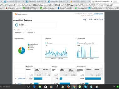 Last Few Month Google Analytics Details