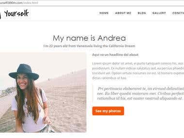 Fashion Personal Blog