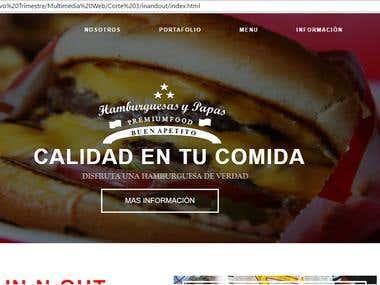 Restaurant Website Sample