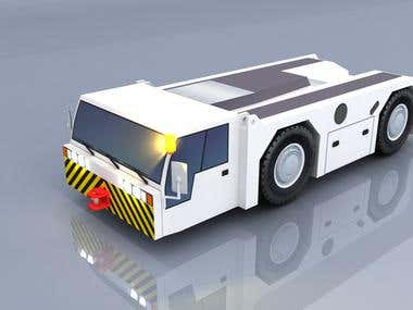 3D model airport service vehicle