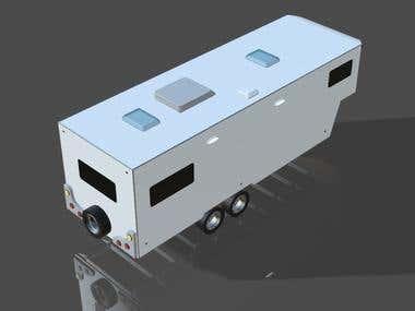 3D Model and Interior Render Caravan
