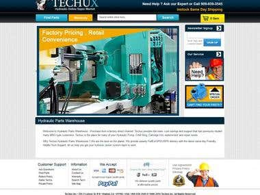 Hydraulic Parts online store in Magento