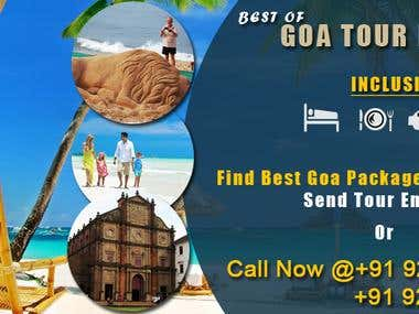 Goa Banner for Travel Agency