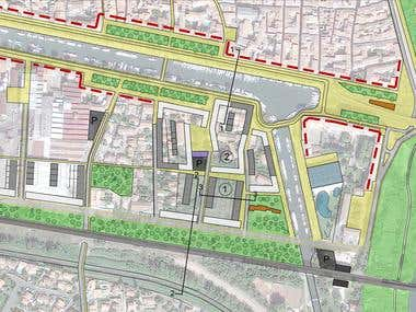 Urban planning - Beaucaire