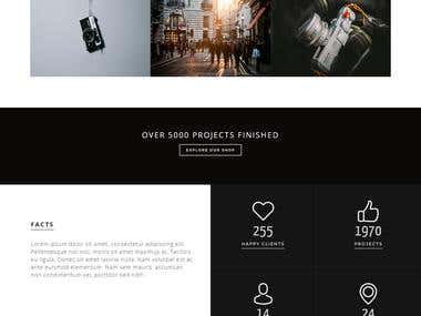 Spectre - Bootstrap landing Page