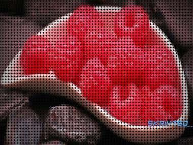 Dot pixel-ed effect