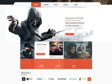 WEBSITE TEMPLATE FOR GAME