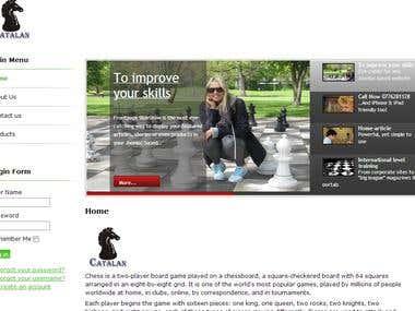 Joomla Website for Catalan Chess Academy