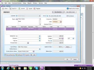 Accounts Receivable Management Using MYOB